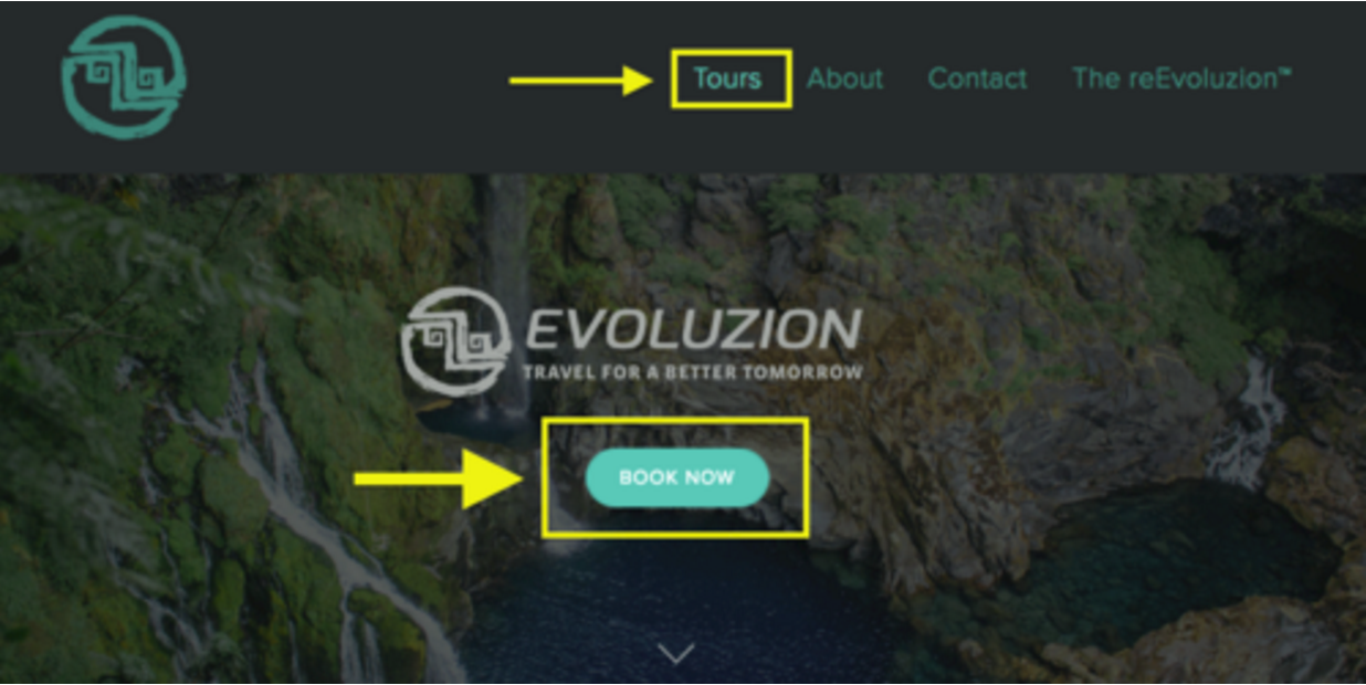 Intuitive booking navigation
