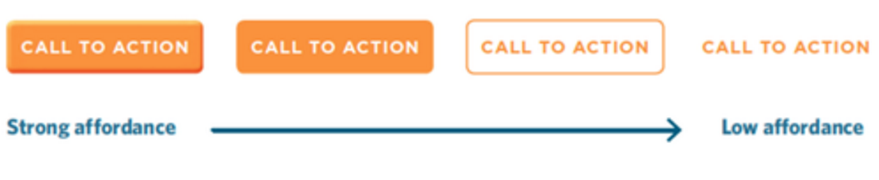 CTA call to action affordance design
